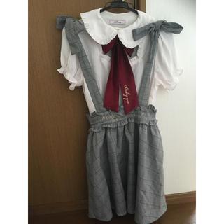 アンクルージュ(Ank Rouge)のAnk Rouge リボンブラウス スカート(シャツ/ブラウス(半袖/袖なし))