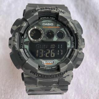 ジーショック(G-SHOCK)の【箱/缶あり】G-SHOCK カモフラ グレー  GD-120CM-8JR(腕時計(デジタル))