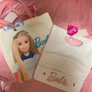 バービー(Barbie)のバービー barbie コラボ バッグ クラッチ トートバッグ 限定 ポーチ(トートバッグ)