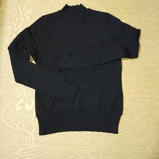 ジェーンマープル(JaneMarple)の黒ハイネックセーター(ニット/セーター)