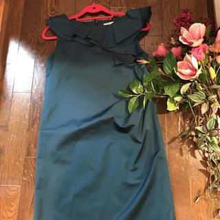 ランバンオンブルー(LANVIN en Bleu)のランバンオンブルー ワンピース 結婚式 フォーマルにも M 38サイズ(ひざ丈ワンピース)