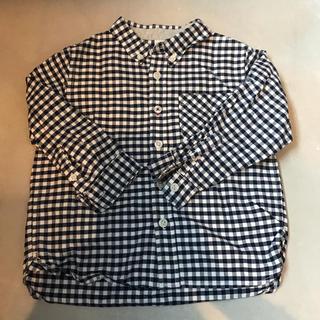 ムジルシリョウヒン(MUJI (無印良品))の無印良品 チェックシャツ キッズ(ブラウス)