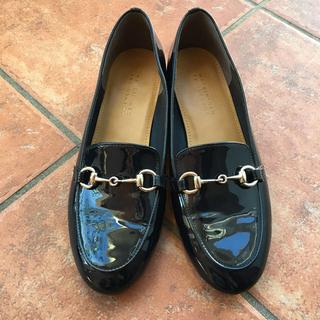 マッキントッシュフィロソフィー(MACKINTOSH PHILOSOPHY)のエナメルローファー ネイビー 24㎝(ローファー/革靴)