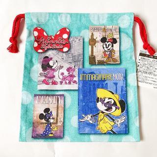 ミニーマウス(ミニーマウス)の東京ディズニーランド ミニー 新エリア 巾着 ミニーのスタイルスタジオ(ポーチ)