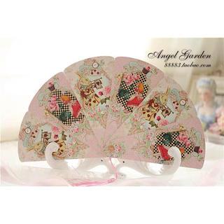Angelic Pretty - ロリータ ゆめかわ 量産系 アリス ピンク 扇子