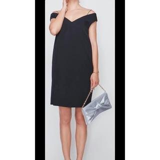 ラグナムーン(LagunaMoon)のオフショルダー ワンピース ドレス LAGUNAMOON ラグナムーン 新品(ミディアムドレス)