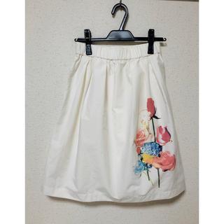 ドットアンドストライプスチャイルドウーマン(Dot&Stripes CHILDWOMAN)の*Dot&Stripes CHILDWOMAN*花柄フレアスカート(ひざ丈スカート)