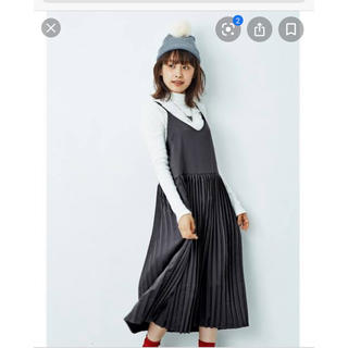 ハコ(haco!)の<高橋愛さんコラボ> プリーツキャミワンピース Mサイズ (ひざ丈ワンピース)