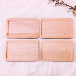 ムジルシリョウヒン(MUJI (無印良品))の木製スクエアプレート カフェトレー 4枚(テーブル用品)
