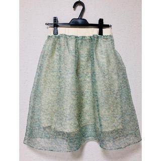 ドットアンドストライプスチャイルドウーマン(Dot&Stripes CHILDWOMAN)の*Dot&Stripes CHILDWOMAN*オーガンジー花柄スカート(ひざ丈スカート)