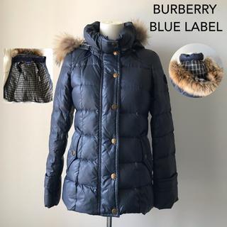 バーバリーブルーレーベル(BURBERRY BLUE LABEL)のバーバリーブルーレーベル ダウンコート ネイビー 38  (ダウンジャケット)
