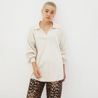 シールームリン(SeaRoomlynn)のLINENコンビミディアムニットシャツ(ニット/セーター)