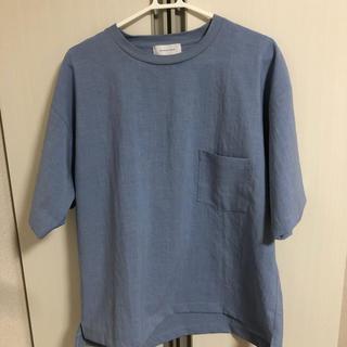 アダムエロぺ(Adam et Rope')のAdam et Rope ブルー tシャツ(Tシャツ/カットソー(半袖/袖なし))