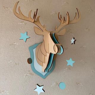 フランフラン(Francfranc)の壁掛け 鹿 アニマル 木製 インテリア アニマルヘッドオブジェ 北欧(アート/写真)