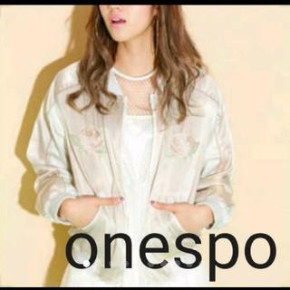 ワンスポ(one spo)のonespo ワンスポ リバーシブル刺繍スカジャン ブルゾン MA-1(ブルゾン)