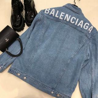 バレンシアガ(Balenciaga)のBALENCIAGA★ロゴ デニムジャケット(Gジャン/デニムジャケット)