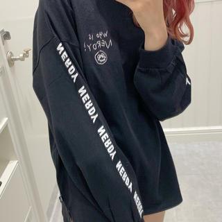 ヘザー(heather)の最終値下げ NERDY×Heather BIGロンT  ブラック タグ付き(Tシャツ(長袖/七分))