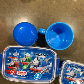 バンダイ(BANDAI)のトーマス お弁当箱とデザート箱、おしぼり、コップ(弁当用品)