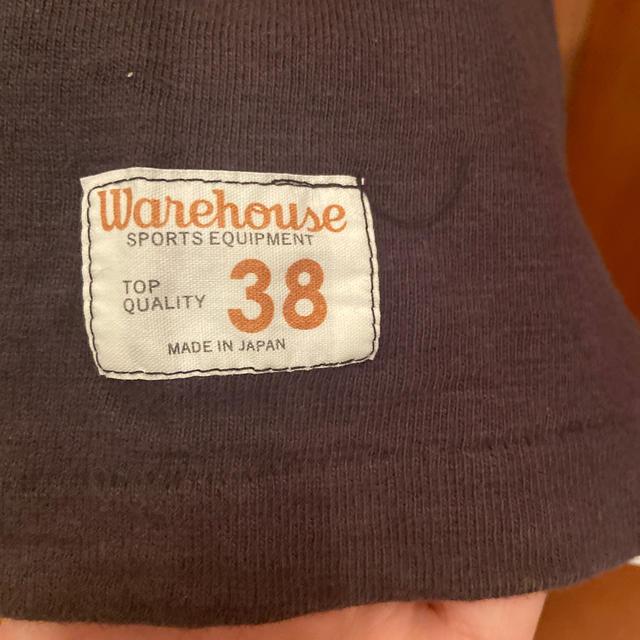 WAREHOUSE(ウエアハウス)のウェアハウス(WAREHOUSE)7分袖Tシャツ黒Mサイズ メンズのトップス(Tシャツ/カットソー(七分/長袖))の商品写真