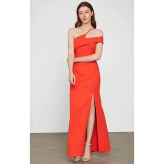 ビーシービージーマックスアズリア(BCBGMAXAZRIA)の❤️BCBG 2020新作 新品 オレンジ色ワンピース ドレス 綺麗(ロングドレス)
