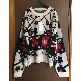 マルタンマルジェラ(Maison Martin Margiela)のL新品 メゾン マルジェラ メンズ オーバーサイズ フラワー ニット セーター(ニット/セーター)