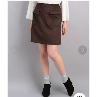 ロペピクニック(Rope' Picnic)のロペピクニック/フェイクスエード台形スカート(ひざ丈スカート)