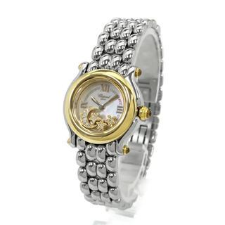 ショパール(Chopard)のショパール ハッピースポーツ スター&ムーン K18YG ダイヤモンド 中古品(腕時計)