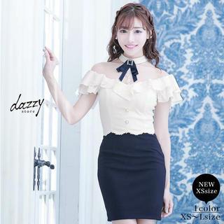 デイジーストア(dazzy store)の明日花キララ キャバクラ  ドレス デイジーストア ホワイト×ネイビー(ナイトドレス)