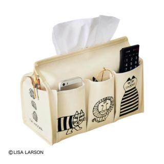 リサラーソン(Lisa Larson)のリサ・ラーソン 5ポケット付き 箱ティッシュケース(ティッシュボックス)