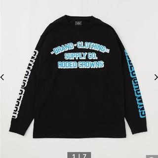 ロデオクラウンズワイドボウル(RODEO CROWNS WIDE BOWL)の新品 LETTER PRESS L/S Tシャツ(Tシャツ/カットソー(七分/長袖))