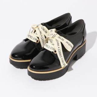 ヘザー(heather)のヘザー  ロゴリボンマニッシュシューズ(ローファー/革靴)