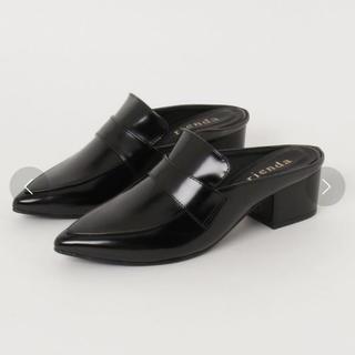 リエンダ(rienda)のrienda リエンダ ローファー ブラック(ローファー/革靴)