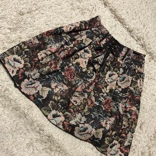 アクシーズファム(axes femme)のミニスカート 花柄(ミニスカート)