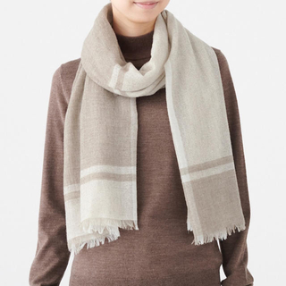 ムジルシリョウヒン(MUJI (無印良品))の無印良品 カシミヤ平織りストール ブラウン(マフラー/ショール)