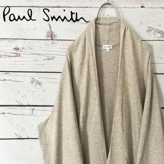 ポールスミス(Paul Smith)のPaul Smith ポールスミス ハイゲージノーカラーカーディガン 杢ベージュ(カーディガン)
