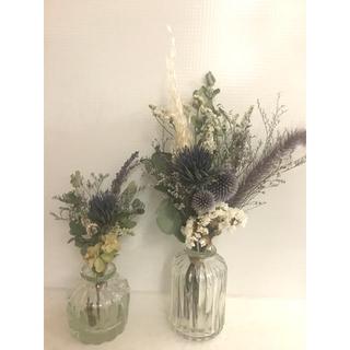 専用★4束セット 秋色紫陽花と瑠璃玉アザミのドライフラワー 花束 (ドライフラワー)