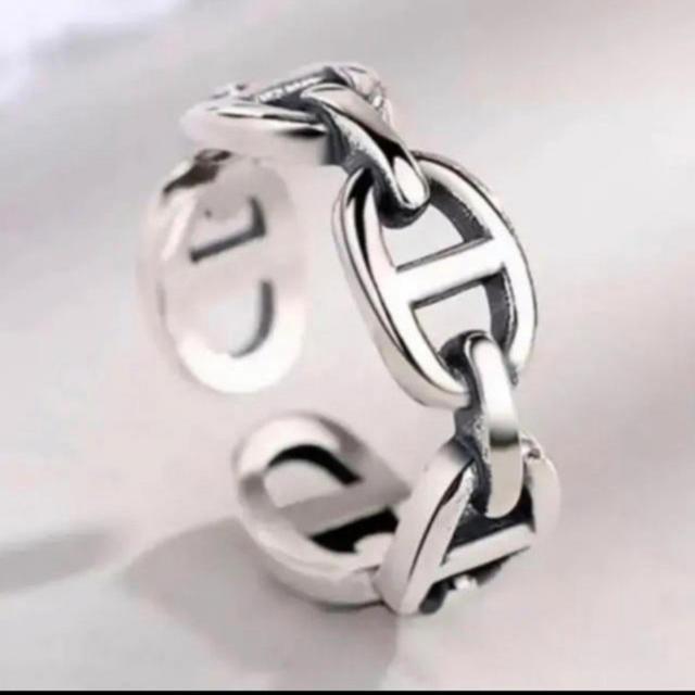 Hermes(エルメス)のS925 シルバーリング エルメス型 メンズのアクセサリー(リング(指輪))の商品写真