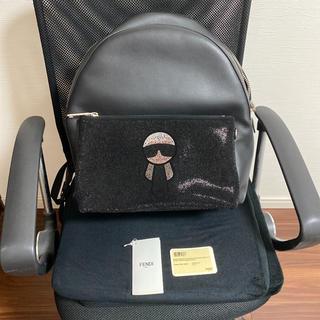 フェンディ(FENDI)のFENDI 日本未入荷 Studded Karlito backpack(バッグパック/リュック)
