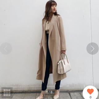リエンダ(rienda)のリエンダ rienda Soft Gown Coat (ガウンコートベージュ)(ガウンコート)
