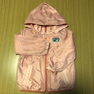 サンカンシオン(3can4on)の三寒四温 ウィンドブレーカー パーカー アウター 100 フード付き ピンク(ジャケット/上着)