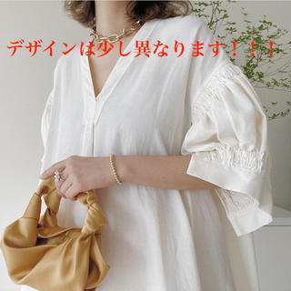 ジルサンダー(Jil Sander)のjilsander   シャツワンピース  white    【新品】(ロングワンピース/マキシワンピース)