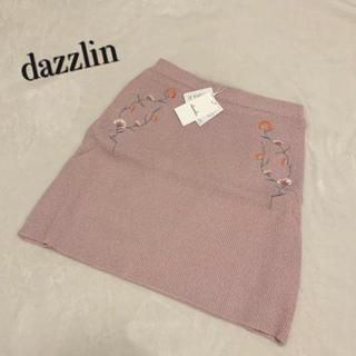 ダズリン(dazzlin)のダズリン♡ナデシコ刺繍ニットスカート♡ピンク(ミニスカート)
