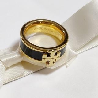 トリーバーチ(Tory Burch)の新品 トリーバーチ ロゴリング ブラック アメリカ6号(リング(指輪))