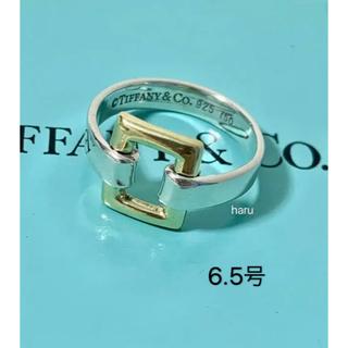 ティファニー(Tiffany & Co.)の美品TIFFANY&Co.ティファニーリング750&925 K18&シルバー(リング(指輪))