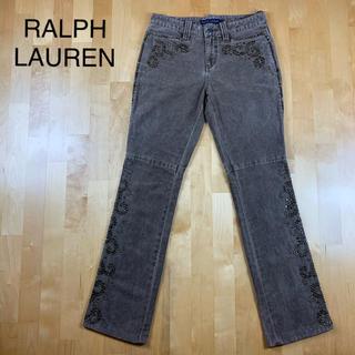ラルフローレン(Ralph Lauren)の美品 RALPH LAUREN ラルフローレン スタッズ付きパンツ 7号(カジュアルパンツ)