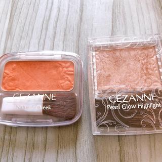 セザンヌケショウヒン(CEZANNE(セザンヌ化粧品))のセザンヌ パールグロウハイライト 02、ナチュラルチーク04(別売り可)(チーク)