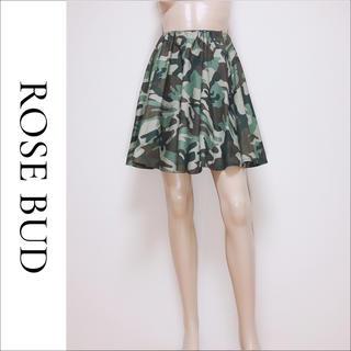 ローズバッド(ROSE BUD)のROSE BUD カモフラージュ ギャザー スカート♡ビームス ザラ SHIPS(ミニスカート)