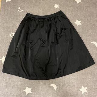 ノーブル(Noble)のnoble フレアスカート ブラック(ひざ丈スカート)