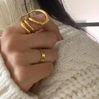 ドゥーズィエムクラス(DEUXIEME CLASSE)のgold round trip ring(リング(指輪))