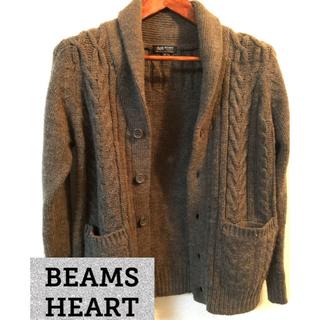 ビームス(BEAMS)のBEAMS メンズ Sサイズ ケーブル ニット カーディガン(カーディガン)